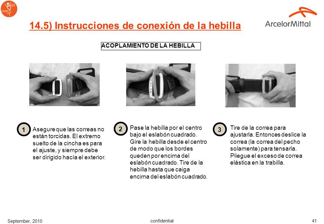 14.5) Instrucciones de conexión de la hebilla