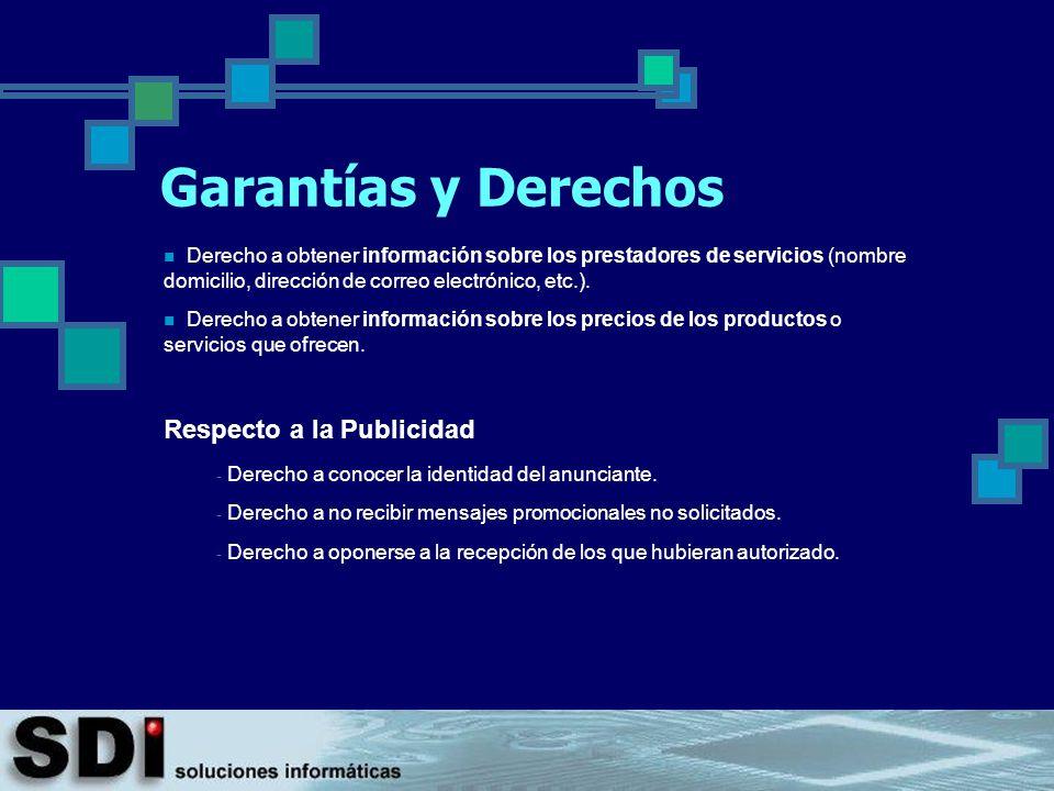 Garantías y Derechos Respecto a la Publicidad