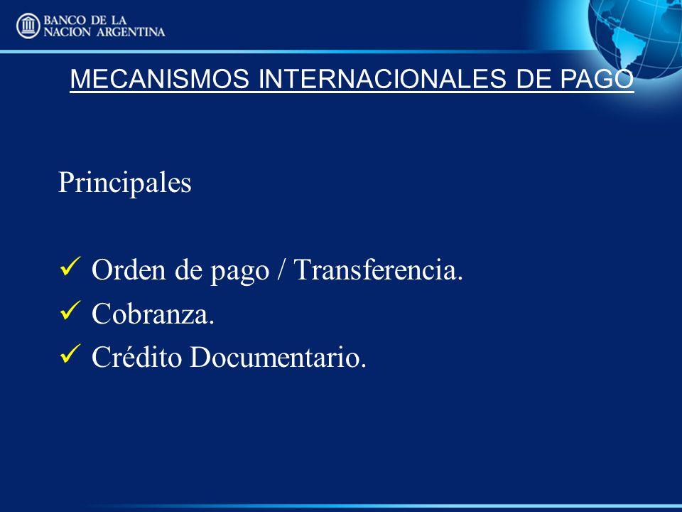 MECANISMOS INTERNACIONALES DE PAGO