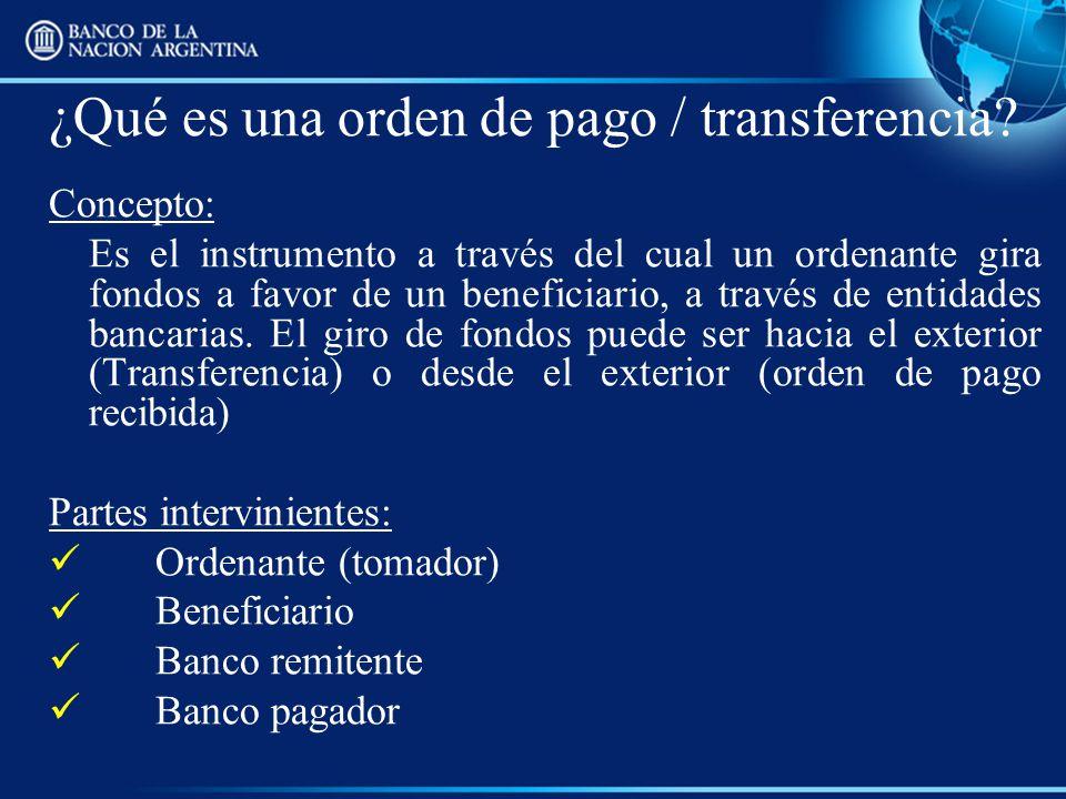 ¿Qué es una orden de pago / transferencia