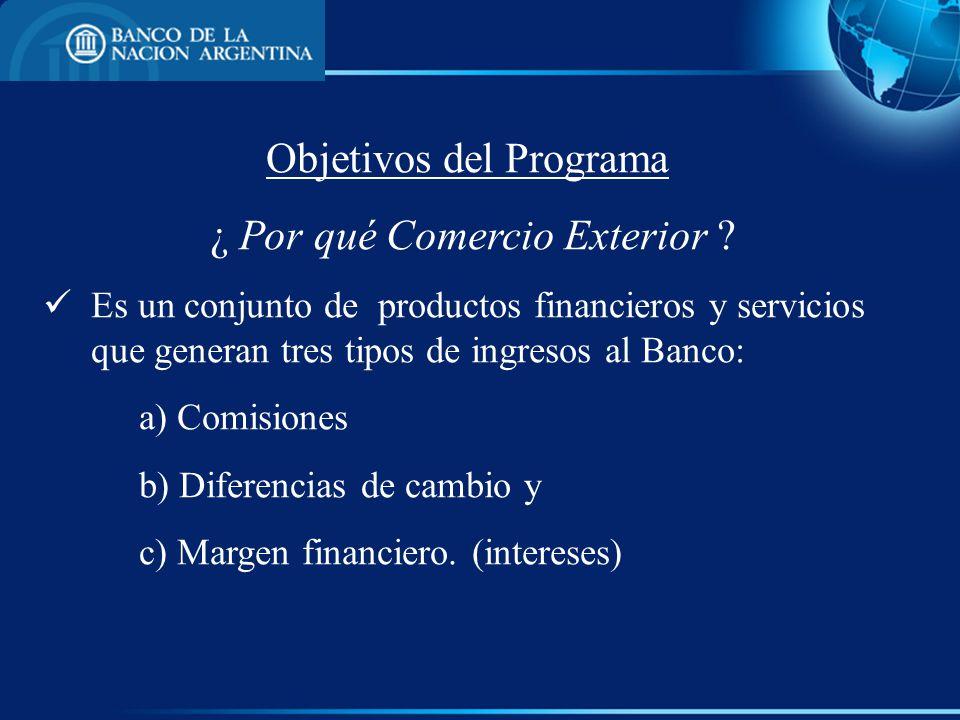 Objetivos del Programa ¿ Por qué Comercio Exterior