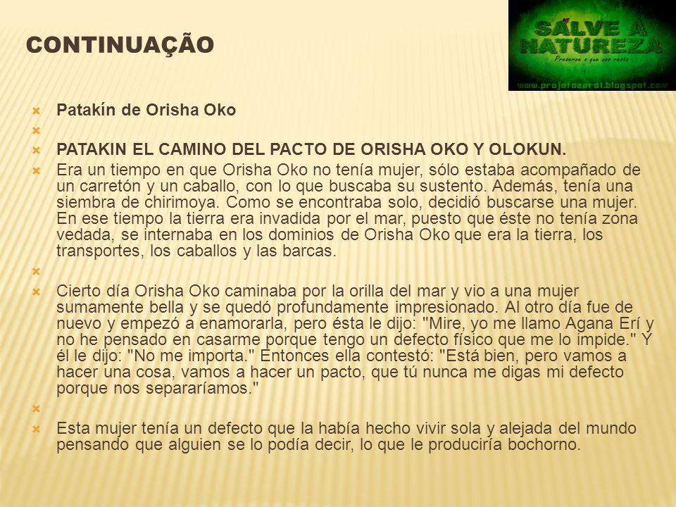 Continuação Patakín de Orisha Oko