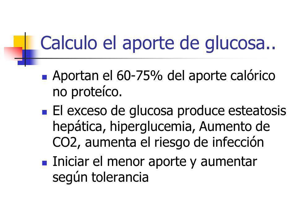 Calculo el aporte de glucosa..