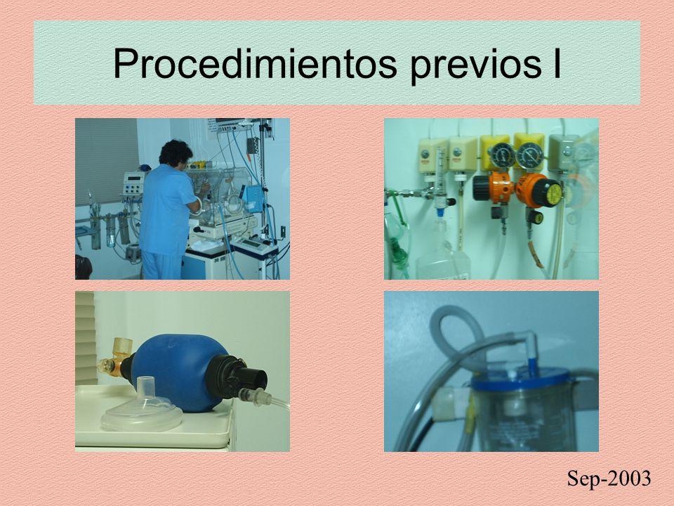 Procedimientos previos I