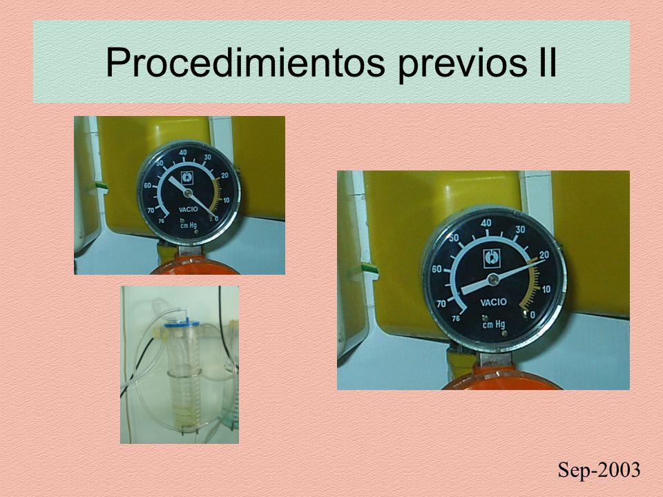 Procedimientos previos II