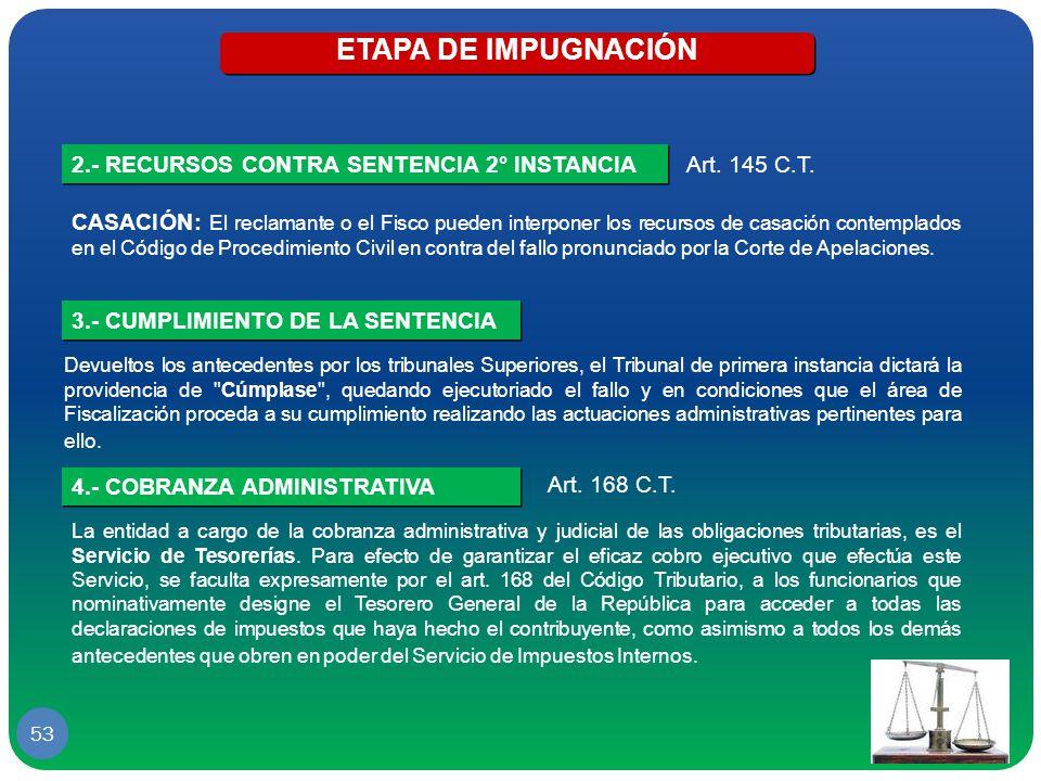 ETAPA DE IMPUGNACIÓN 2.- RECURSOS CONTRA SENTENCIA 2° INSTANCIA