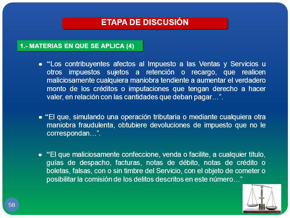 ETAPA DE DISCUSIÓN 1.- MATERIAS EN QUE SE APLICA (4)