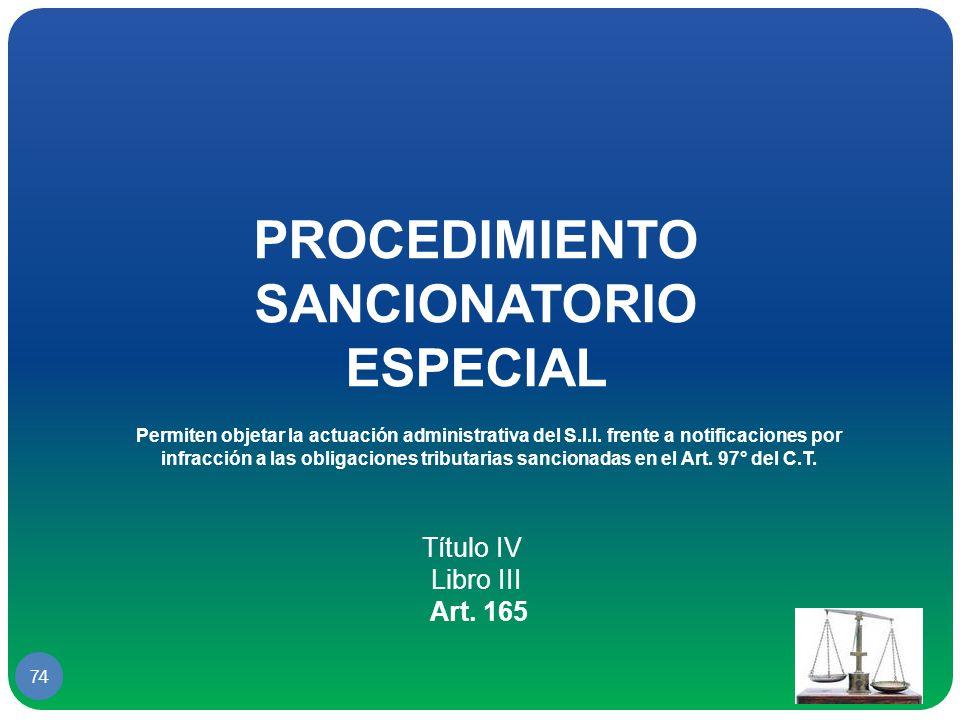 PROCEDIMIENTO SANCIONATORIO ESPECIAL