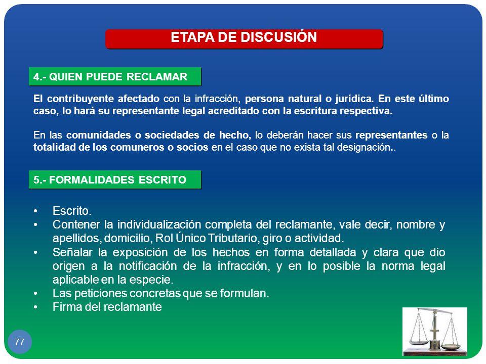 ETAPA DE DISCUSIÓN Escrito.