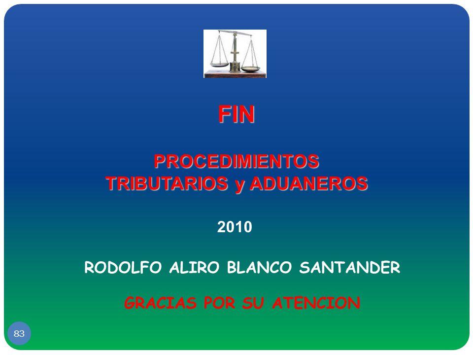 FIN PROCEDIMIENTOS TRIBUTARIOS y ADUANEROS 2010
