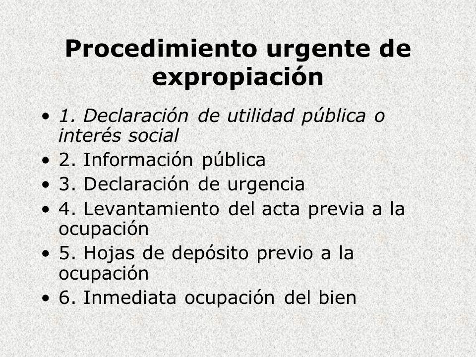 Procedimiento urgente de expropiación