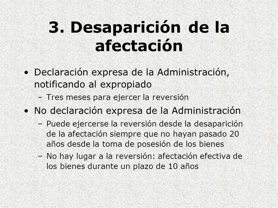 3. Desaparición de la afectación