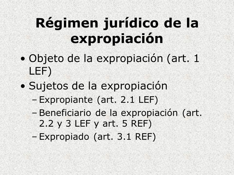 Régimen jurídico de la expropiación