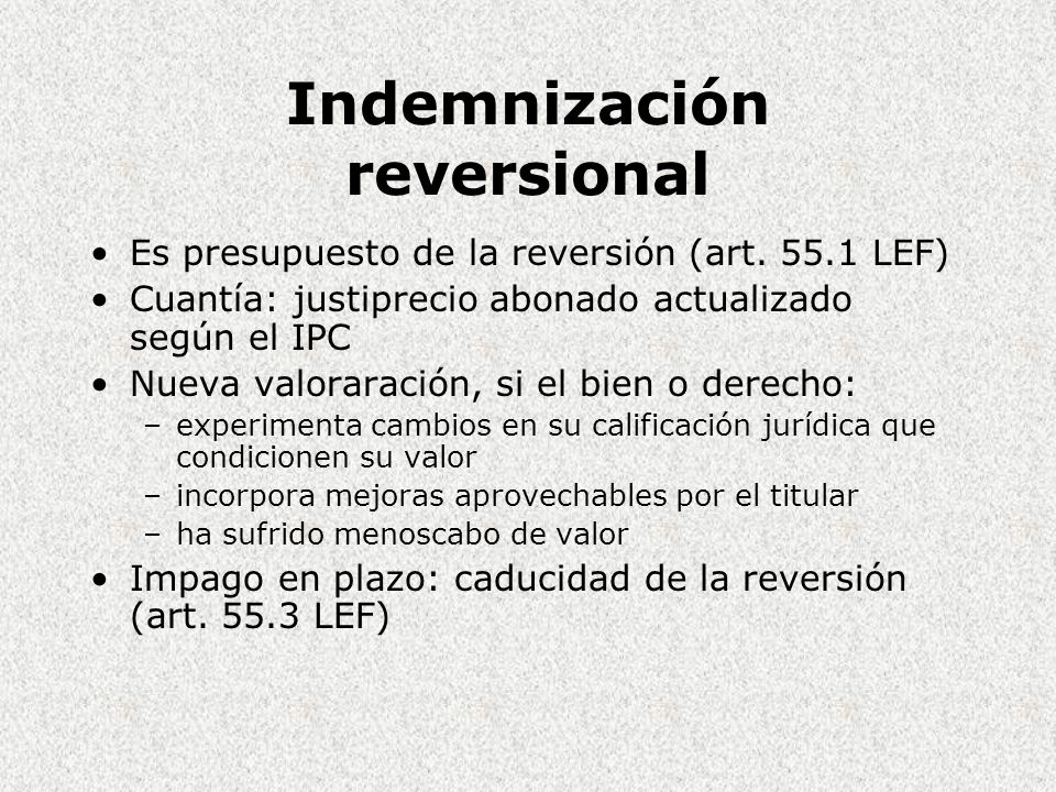 Indemnización reversional