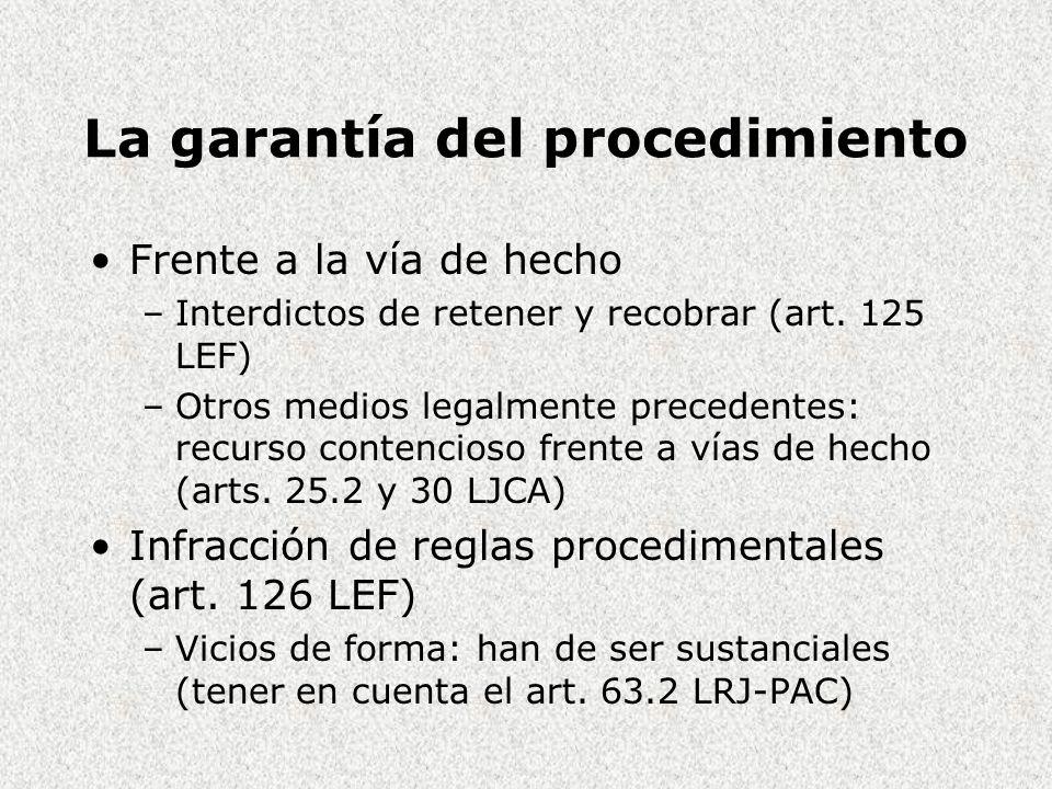 La garantía del procedimiento