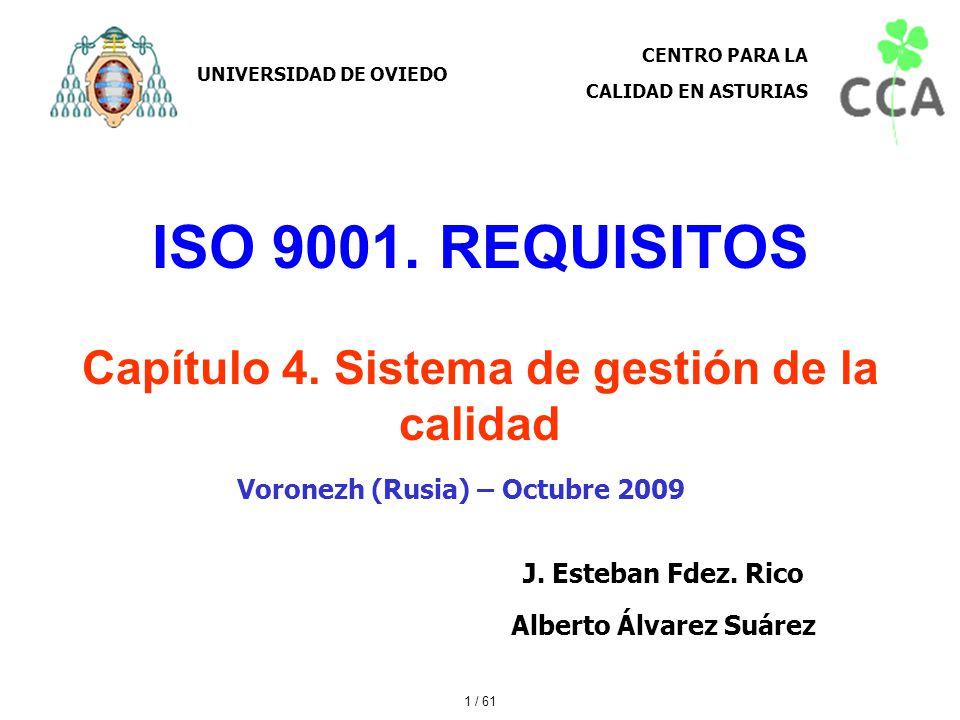 ISO 9001. REQUISITOS Capítulo 4. Sistema de gestión de la calidad