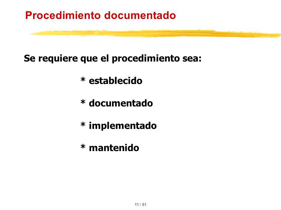 Procedimiento documentado