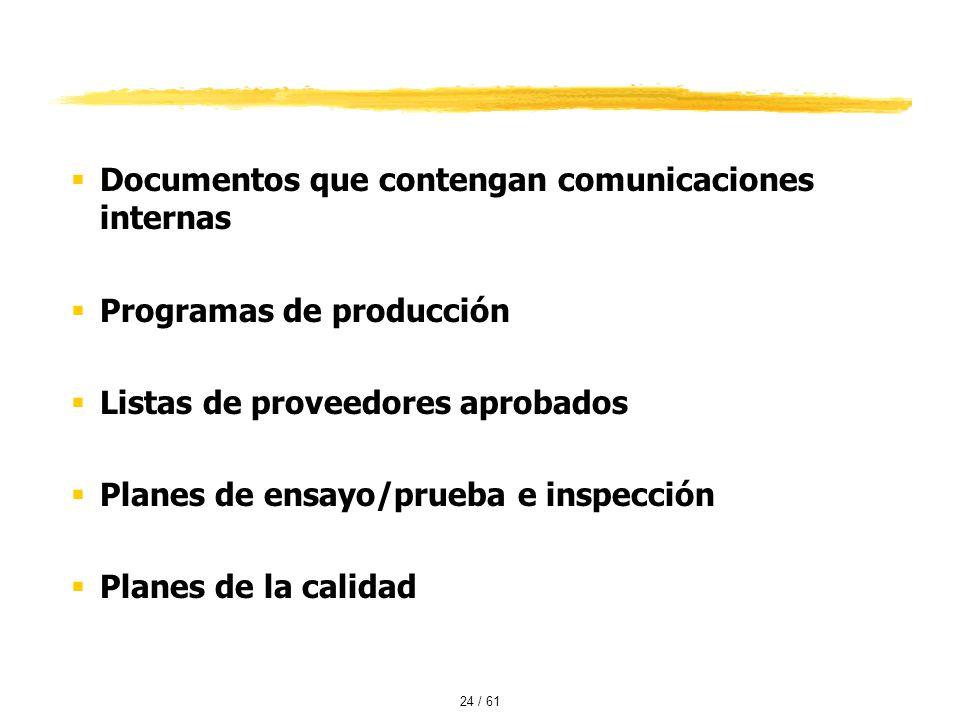 Documentos que contengan comunicaciones internas