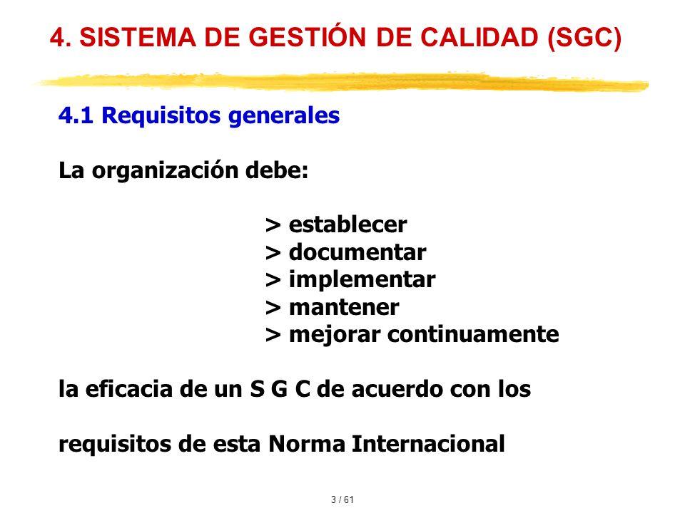 4. SISTEMA DE GESTIÓN DE CALIDAD (SGC)
