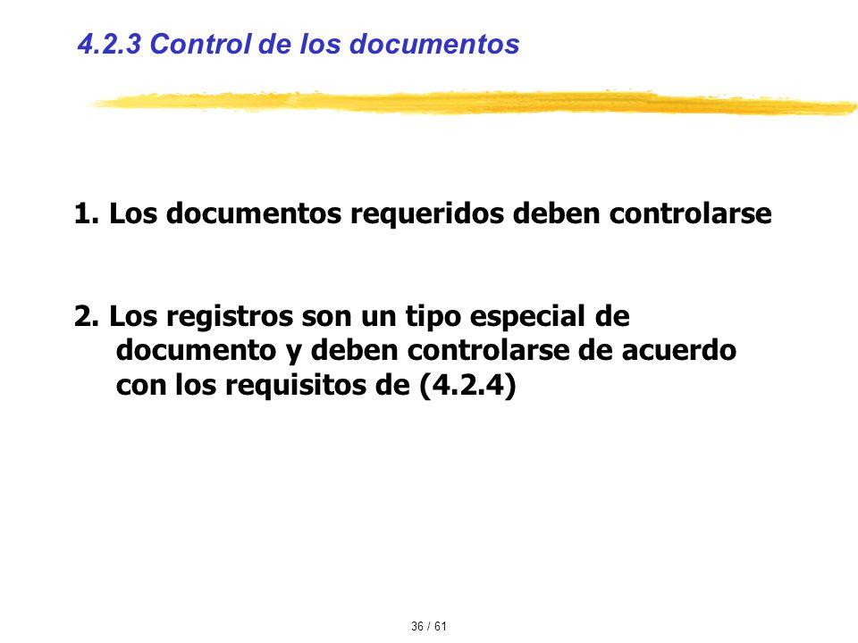4.2.3 Control de los documentos
