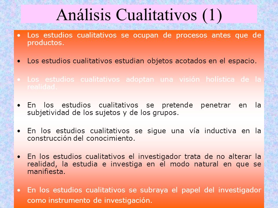 Análisis Cualitativos (1)
