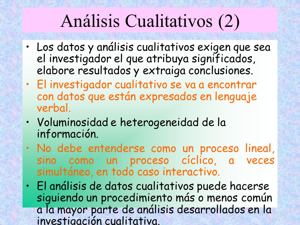 Análisis Cualitativos (2)