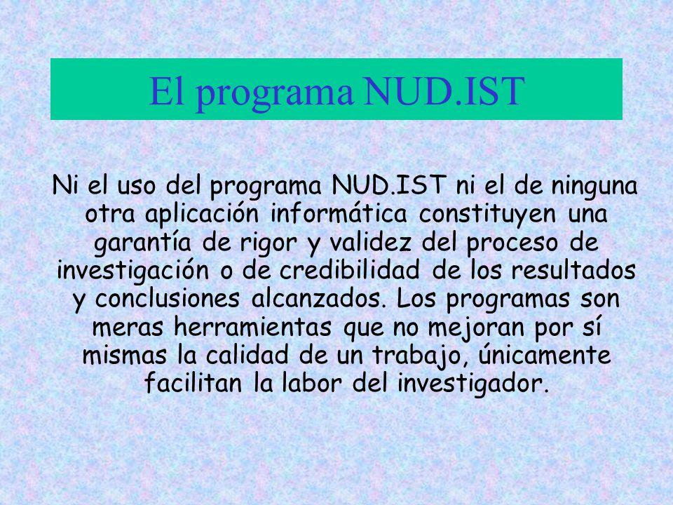 El programa NUD.IST