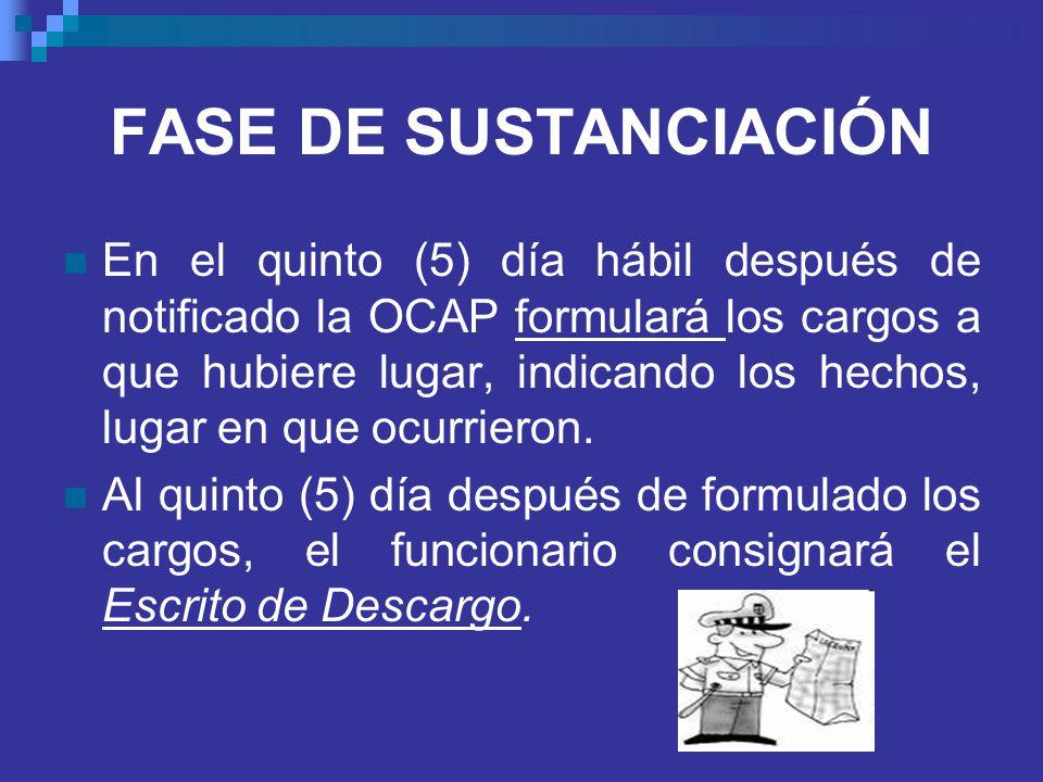 FASE DE SUSTANCIACIÓN