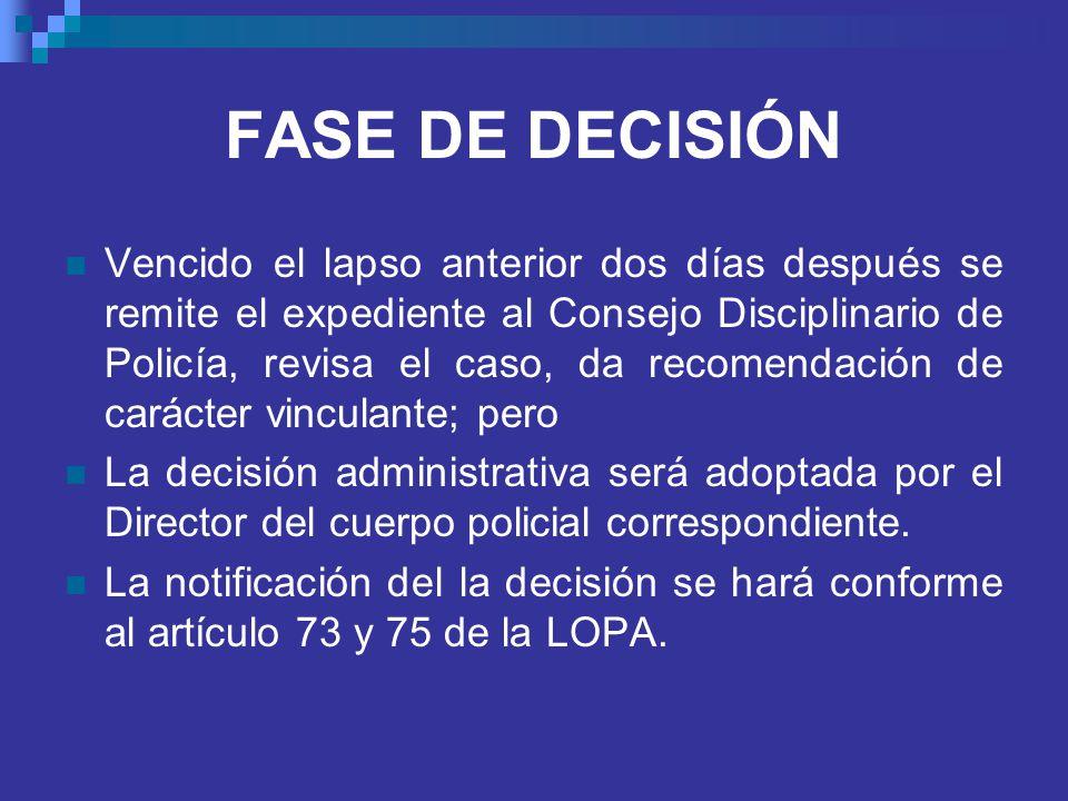 FASE DE DECISIÓN