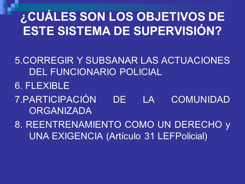¿CUÁLES SON LOS OBJETIVOS DE ESTE SISTEMA DE SUPERVISIÓN