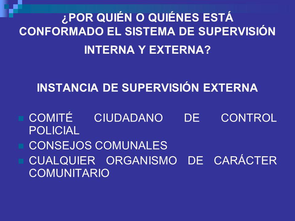 INSTANCIA DE SUPERVISIÓN EXTERNA