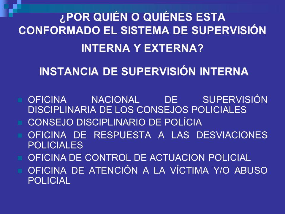 INSTANCIA DE SUPERVISIÓN INTERNA