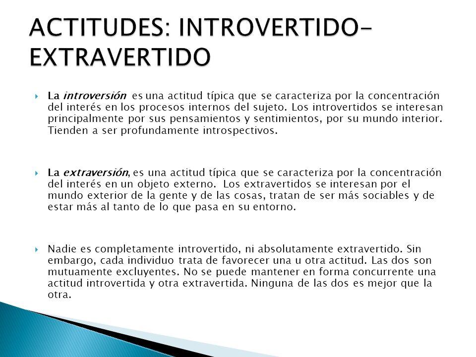 ACTITUDES: INTROVERTIDO-EXTRAVERTIDO