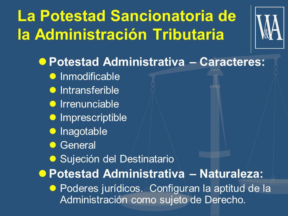 La Potestad Sancionatoria de la Administración Tributaria