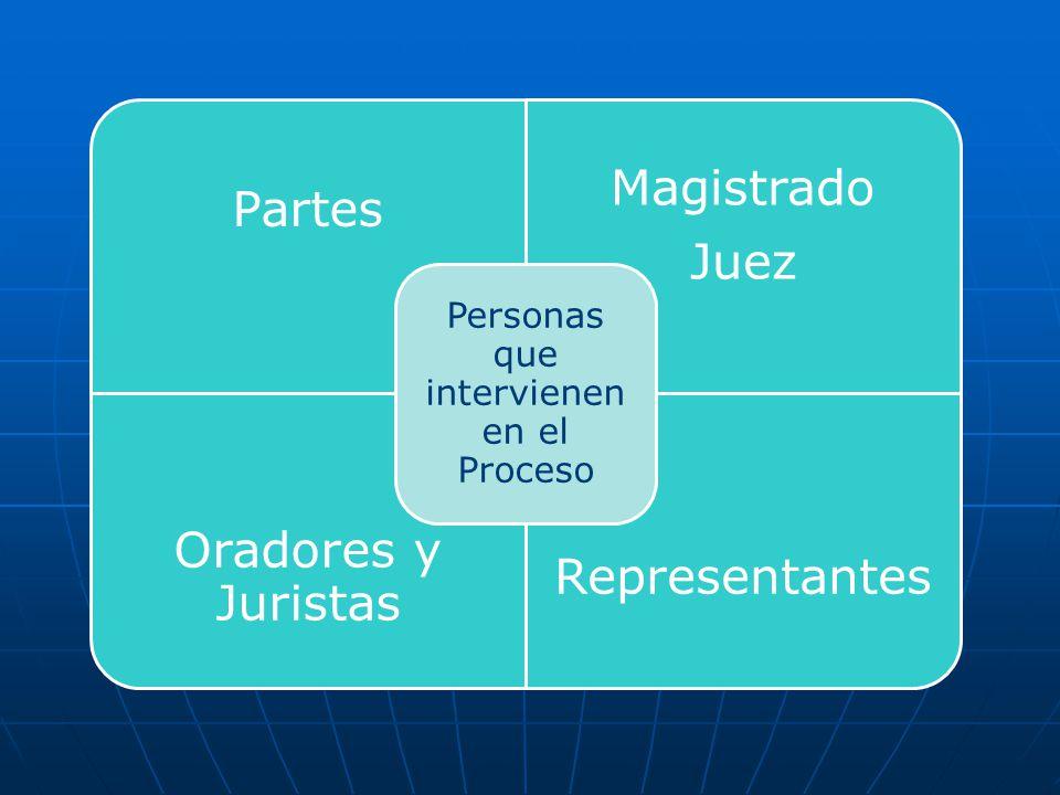 Personas que intervienen en el Proceso