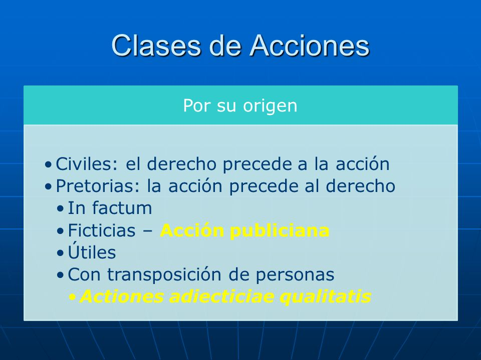 Clases de Acciones Por su origen