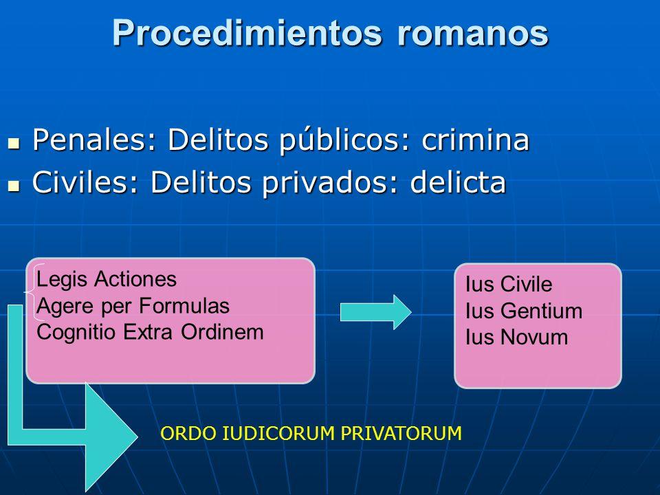 Procedimientos romanos