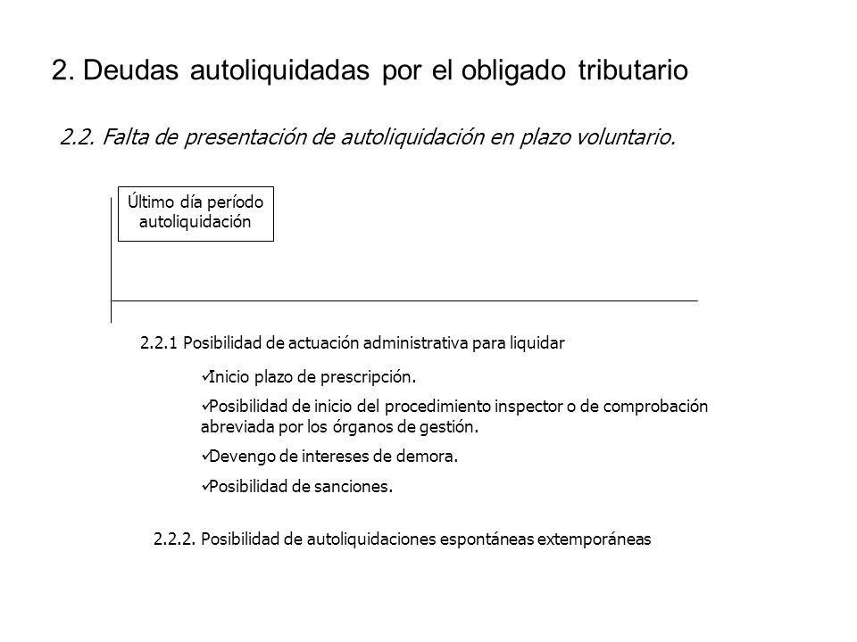 2. Deudas autoliquidadas por el obligado tributario