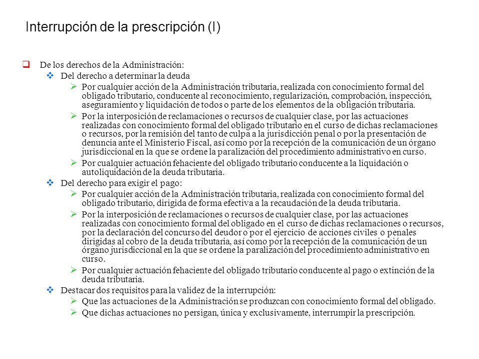 Interrupción de la prescripción (I)