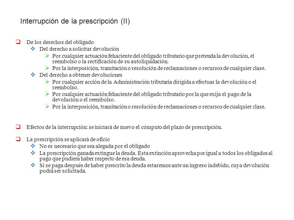 Interrupción de la prescripción (II)