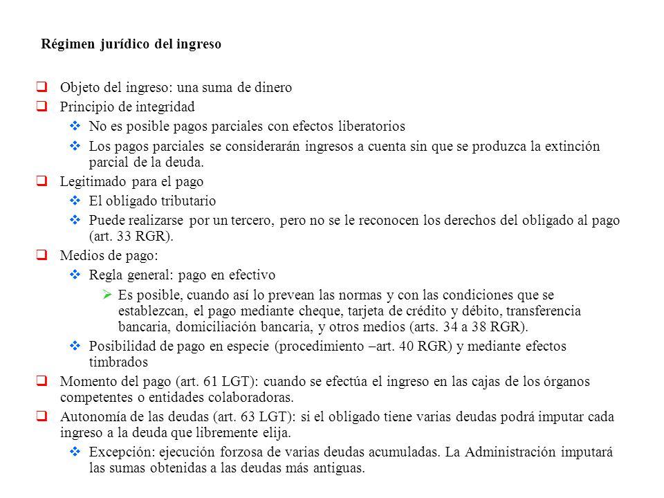 Régimen jurídico del ingreso