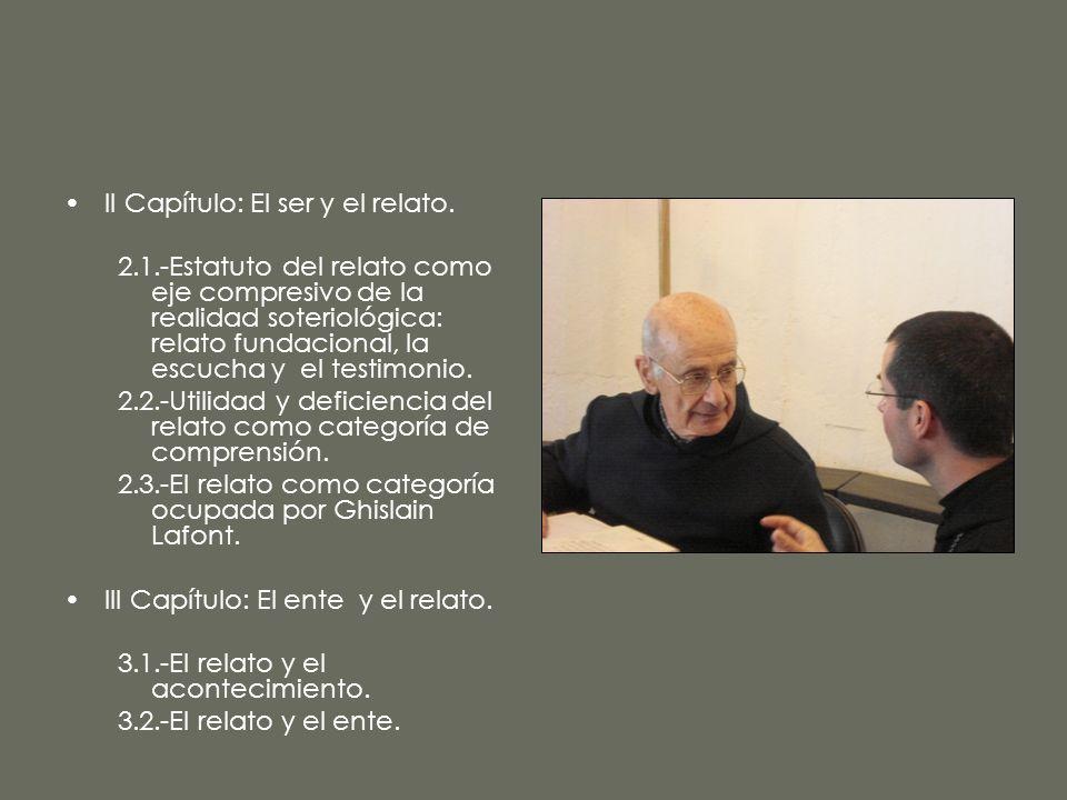 II Capítulo: El ser y el relato.