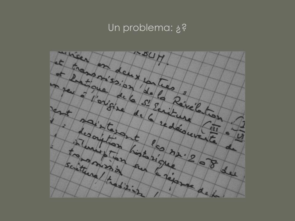 Un problema: ¿