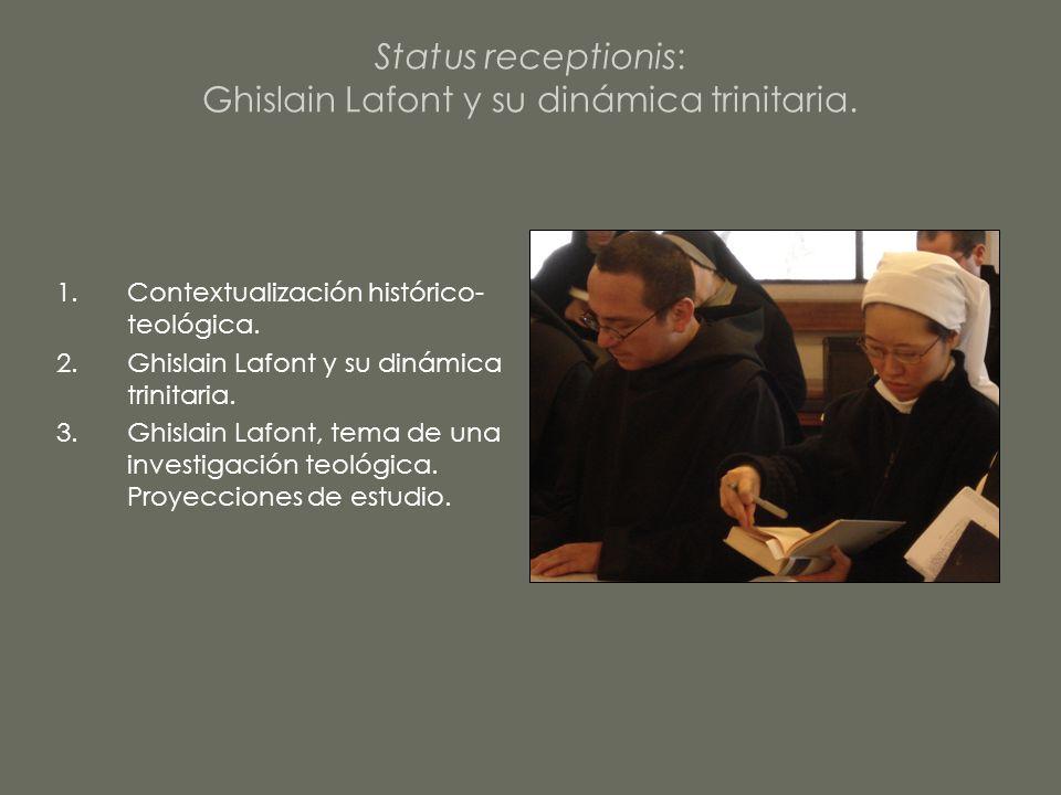Status receptionis: Ghislain Lafont y su dinámica trinitaria.
