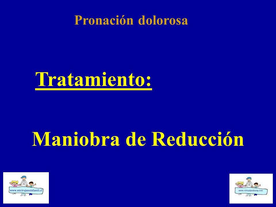 Pronación dolorosa Tratamiento: Maniobra de Reducción