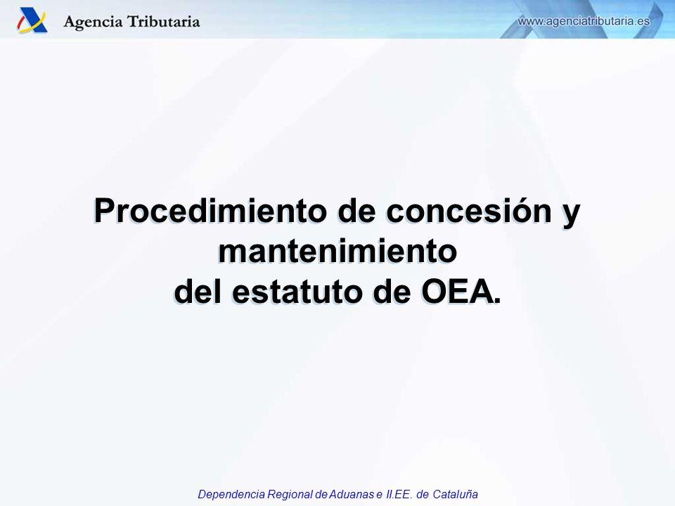 Procedimiento de concesión y mantenimiento