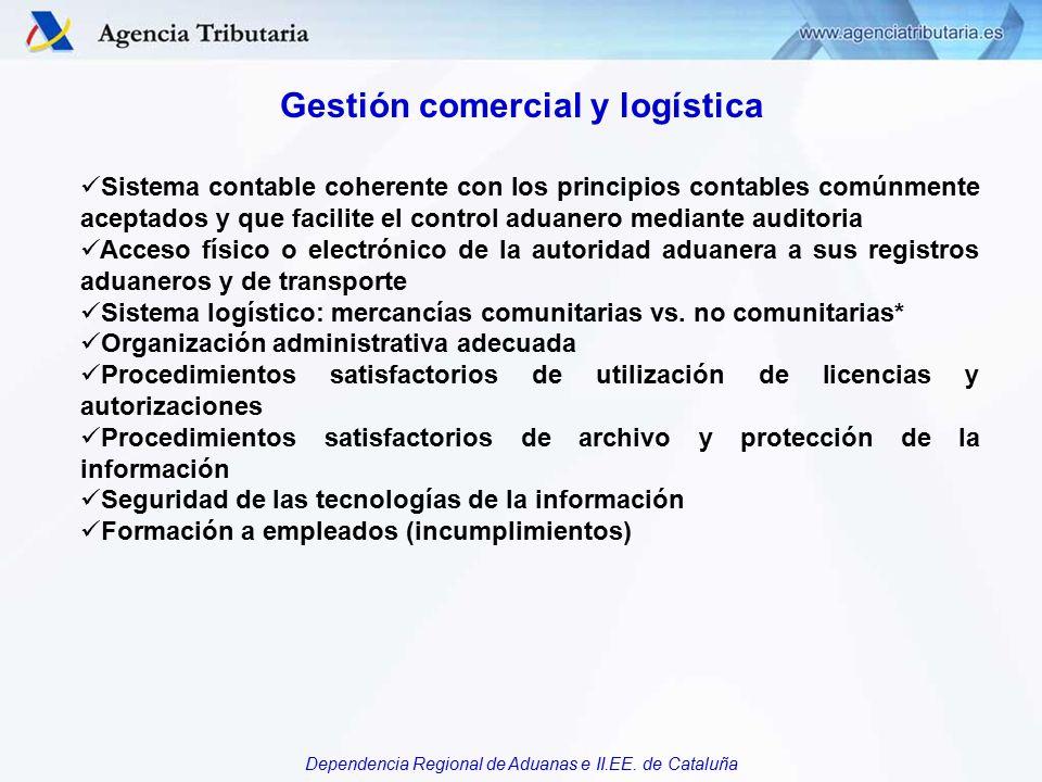 Gestión comercial y logística