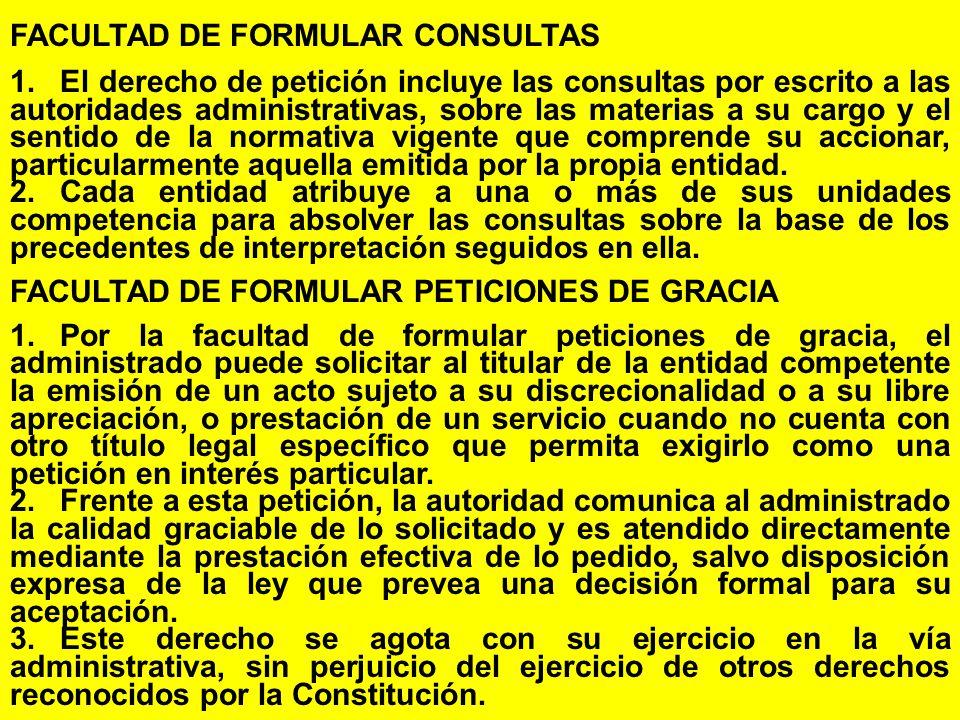 FACULTAD DE FORMULAR CONSULTAS