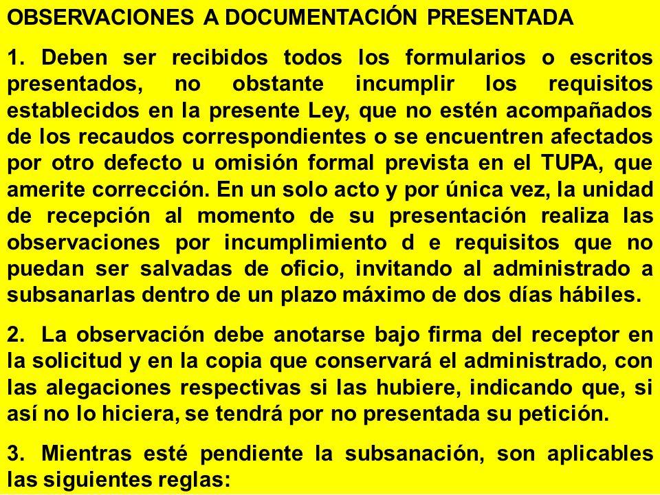 OBSERVACIONES A DOCUMENTACIÓN PRESENTADA