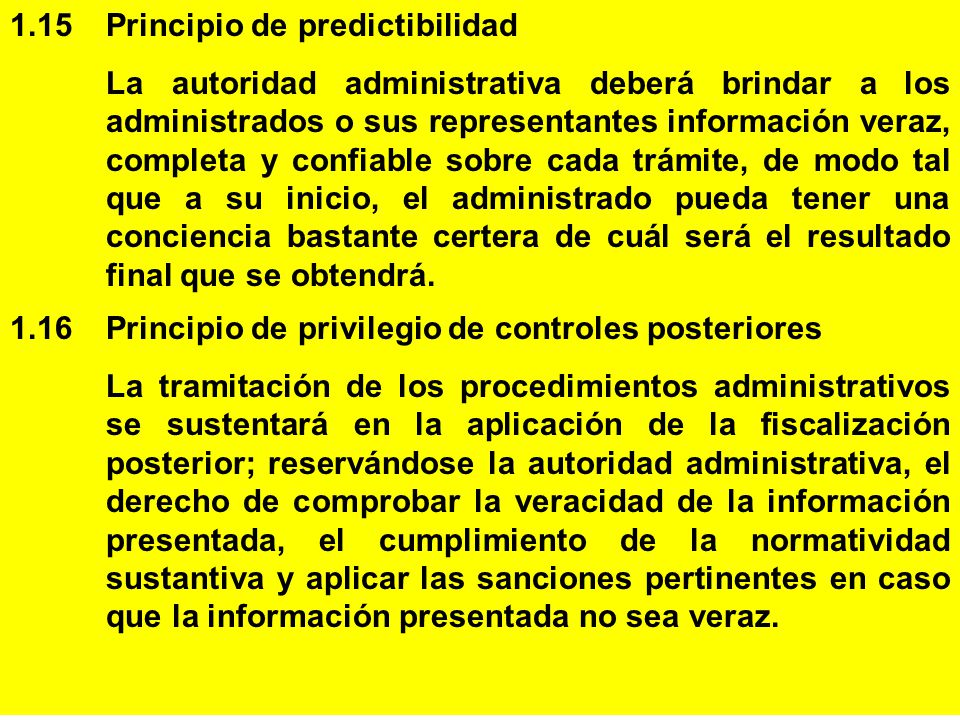 1.15 Principio de predictibilidad